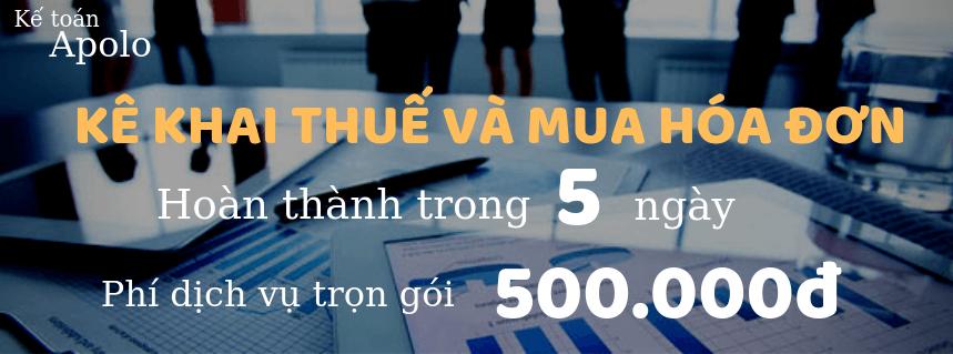 Dịch vụ làm hồ sơ thủ tục kê khai thuế 2020- Chỉ 500.000đ